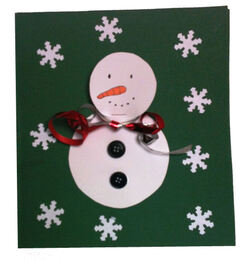 La Carte bonhomme de neige