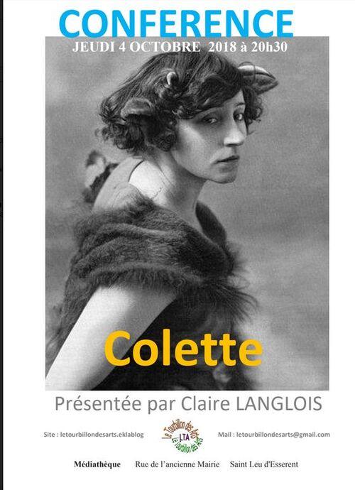 > Une fois de plus Claire nous a relaté avec beaucoup de talent la vie et l'œuvre d'une romancière française, Colette.