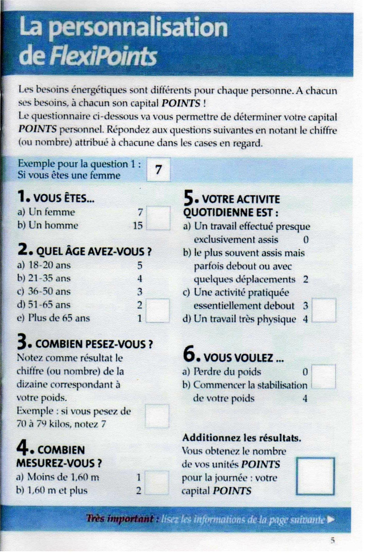 Extrêmement Pour démarrer WW - Livret Flexipoints 2004 - Ghislaine Cuisine YX32