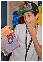 Austin in the magazine Popstar