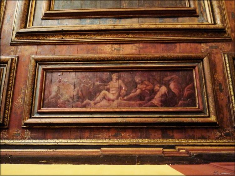 Photo de plafond du cabinet des rois et reines