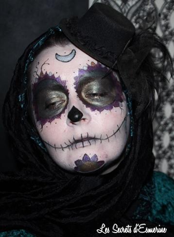 La Calavera Celte... ou mon essai de makeup Halloween, esmerine, les secrets d'esmerine