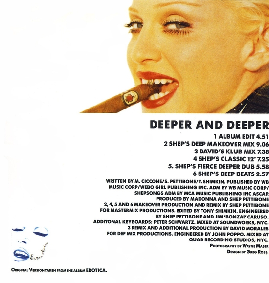 Deeper and Deeper - France - back cover