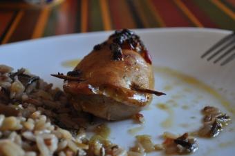 Encornets farcies aux légumes et poisson