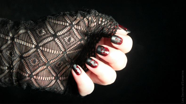 manucure vampire nail art