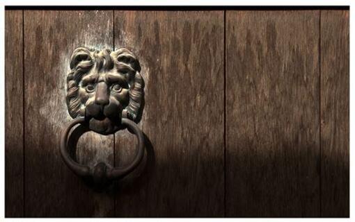 Porte de bois...