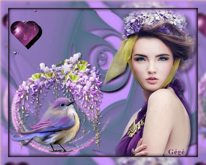 La dame et l'oiseau