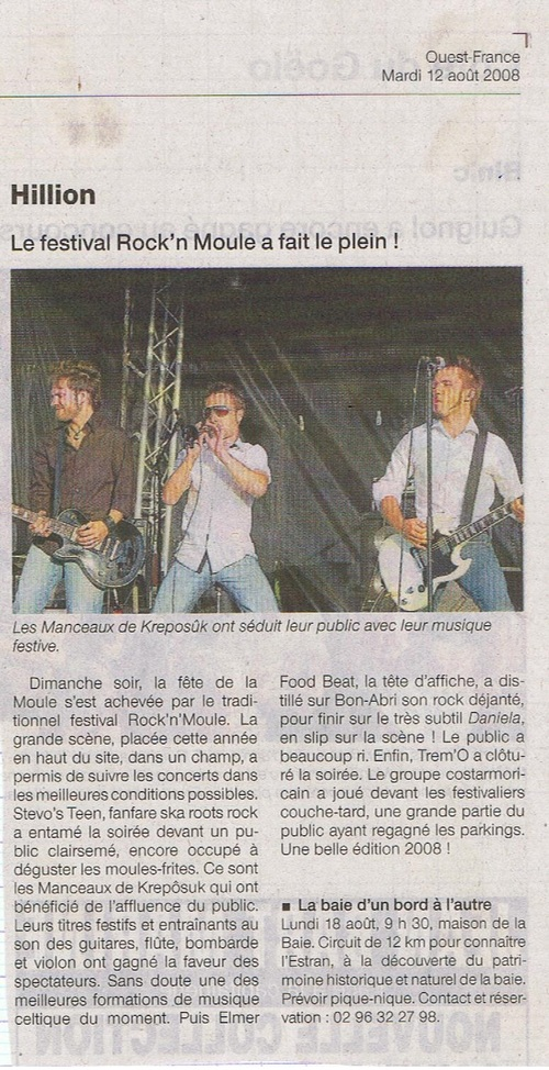Kreposûk festival Rock 'n'Moules