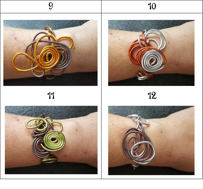 Bracelets en fil alu
