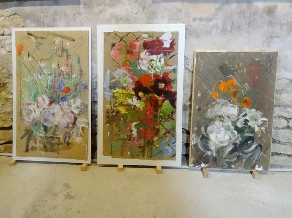 Karin Neumann a présenté son exposition d'été 2016...des fleurs, rien que des fleurs !