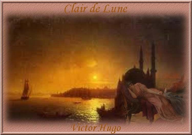 """"""" Clair de Lune """" poème de Victor Hugo"""