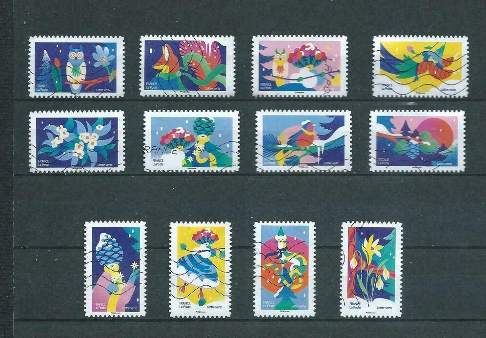 2021 - Edition noël spectaculaire  - 12 timbres lettre verte