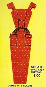Barbie vintage : Polka dot Sheath Dress