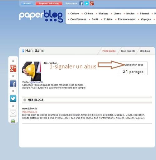 Comment se désinscrire de paperblog.fr