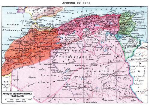 L'Afrique du Nord au début du XX° s