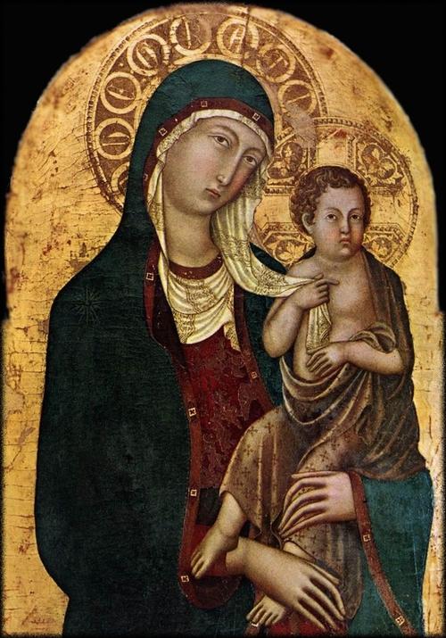 Icônes de la Sainte Vierge et de l'enfant Jésus