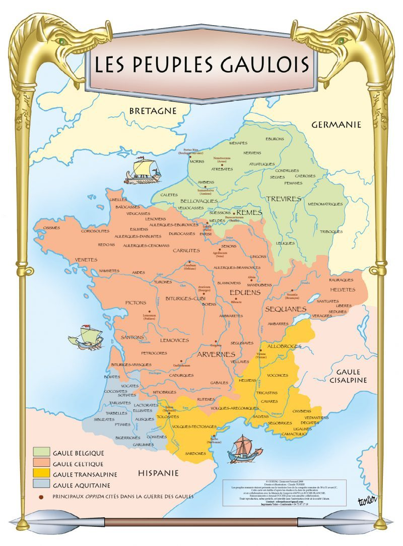 Poster Les Peuples Gaulois - Odeum