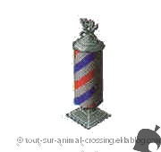 enseigne de barbier - animal crossing ds