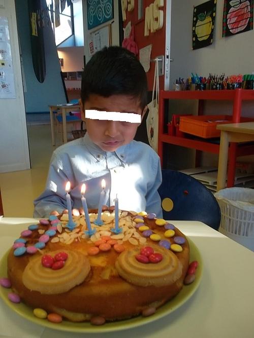 Notre gâteau hibou