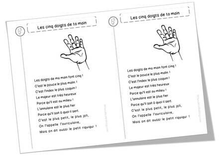 Poèmes main / doigts