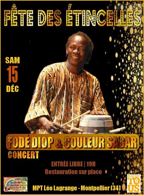 ★ Concert Fodé Diop & Couleur Sabar [Samedi 15 Décembre 2018]