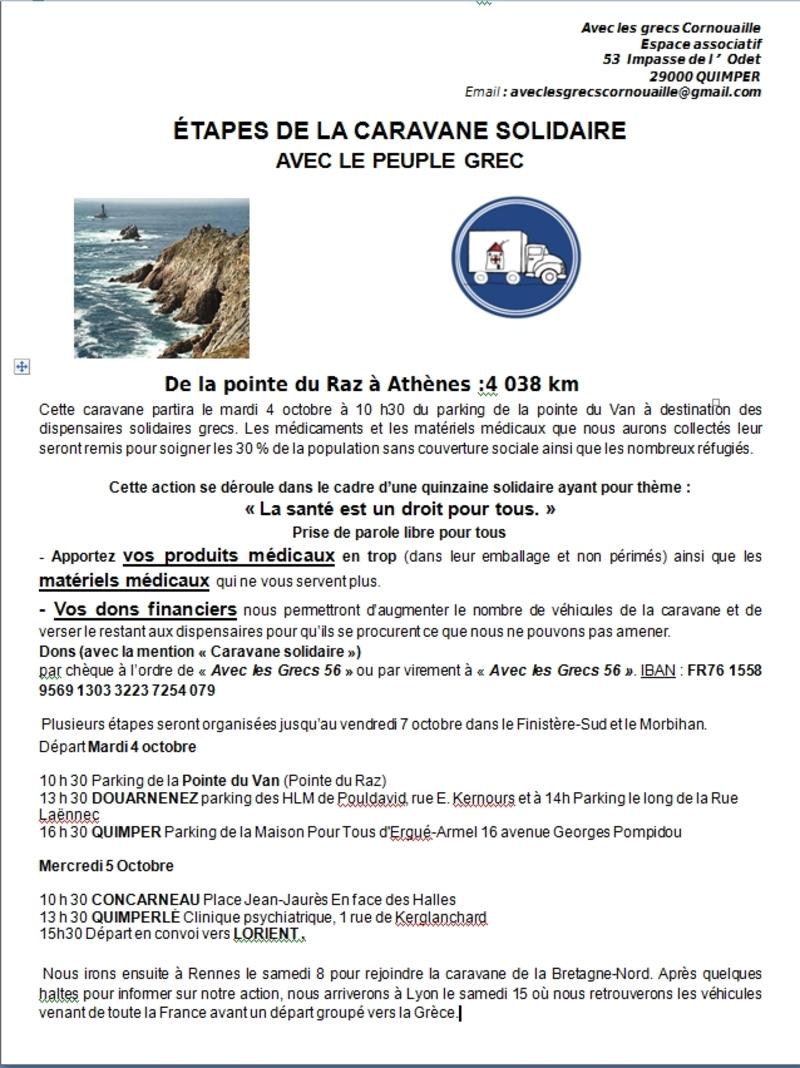 caravane solidaire  programme Finistère