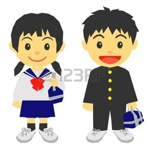 uniforme scolaire: étudiants, uniforme scolaire Illustration