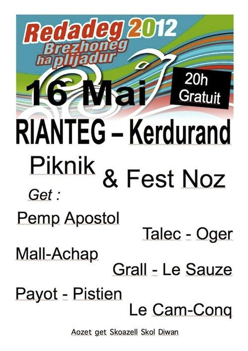 Redadeg : Le skoazell organise un fest-noz à Riantec