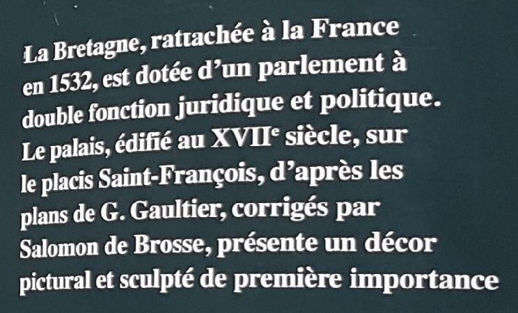 Bretagne : Rennes Place du Parlement de Bretagne