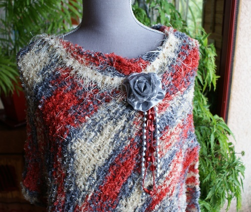 Poncho Ivy tricolore