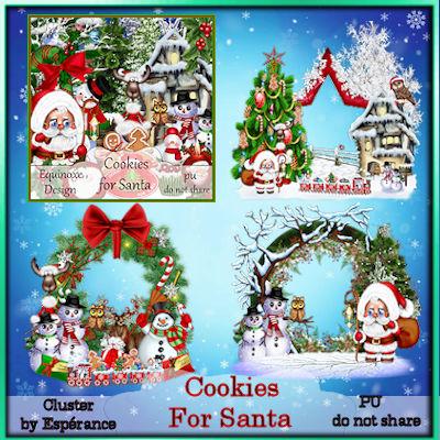 Cluster cookies for santa 1