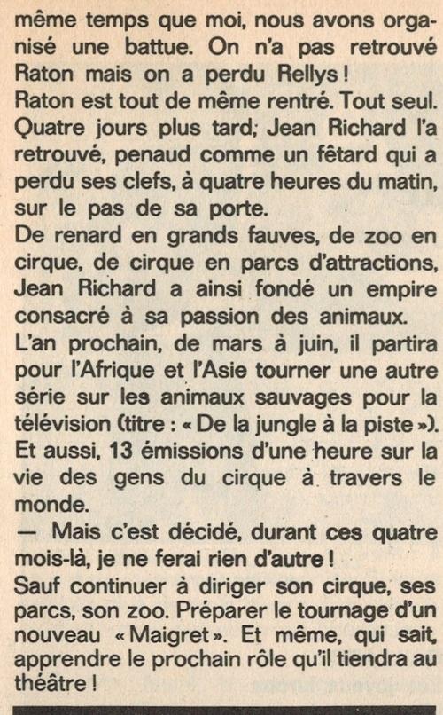 """article paru dans """"Echo de la Mode"""" n° 51 du 23 au 29 décembre 1972"""