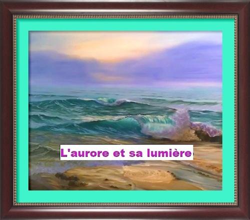 Dessin et peinture -  vidéo 2991 : Comment peindre les premières lueurs de l'aurore sur la mer 4 ? - acrylique ou huile.