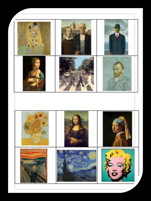Memory pixel art