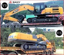 CHINE: pelles hydrauliques sur chenilles 1,5-60tons: SANY vs. XCMG.