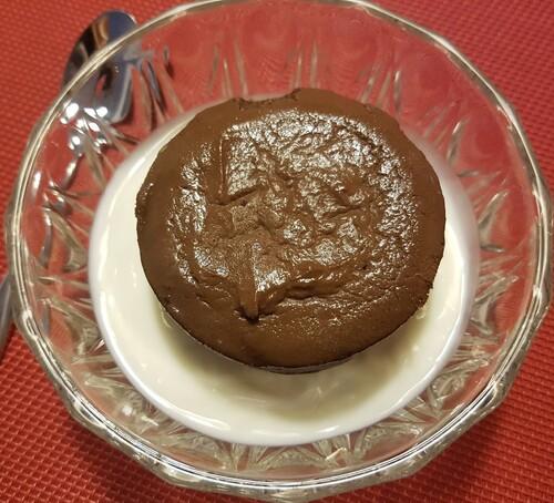 MINIS FONDANTS au chocolat noir corsé, séré, Xylitol, miel & lait sans lactose