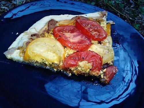 Tarte Tomates/oignon/Tofu {Vegan}