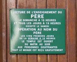 Panneau d'un Temple en France