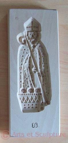 speculoos legende St Nicolas 20cm - Arts et Sculpture: sculpteur sur bois