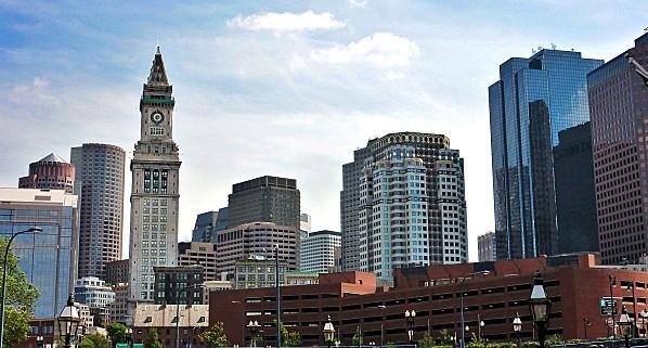 Boston vue de Hanover Street