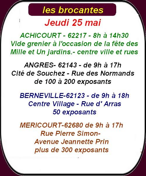 Les festivités et autres manifestations le week-end de l'ascension à ARRAS et ses environs.