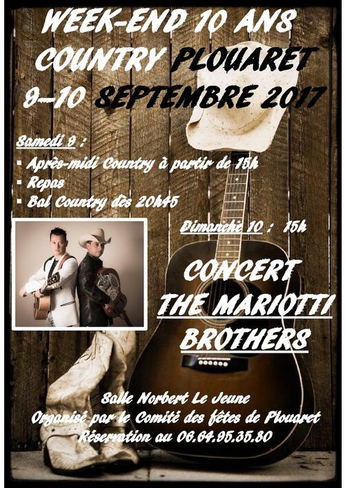 affiche country plouaret