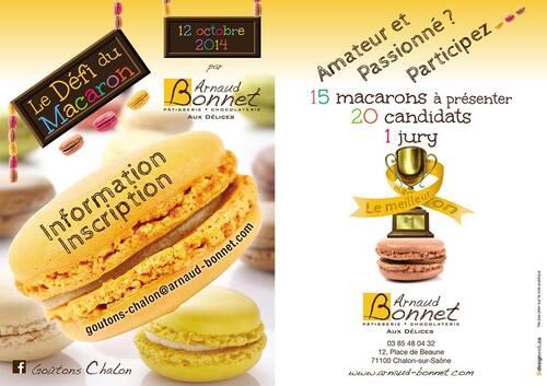 """Concours """" Le défi du macaron """" édition 2014"""