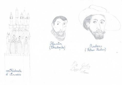 [P6] Notre journée à Anvers: de beaux dessins...