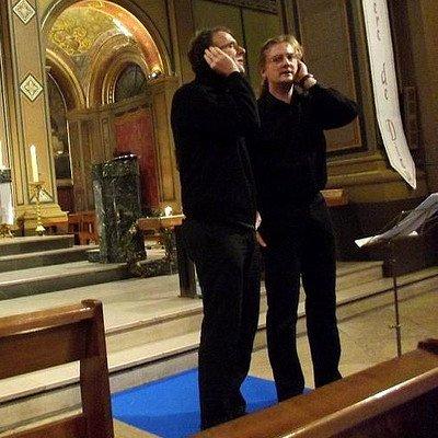 la paghjella chantée ici dans une église.