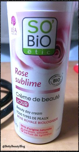 Crème rose sublime so' bio étic