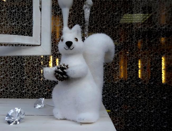 Quelques jolis décors vus dans des vitrines de fêtes de Châtillon sur Seine...