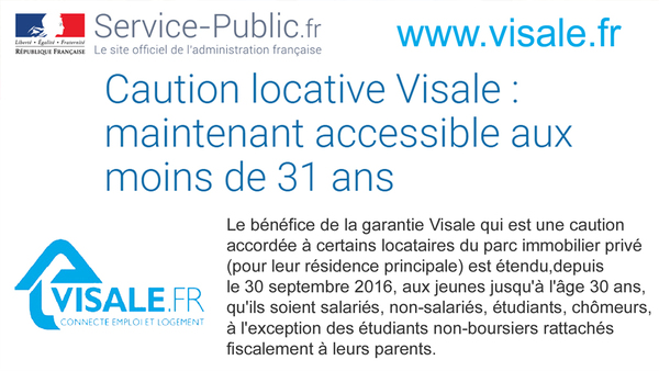 Caution locative Visale : maintenant accessible aux moins de 31 ans
