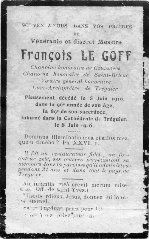 C comme Chanoine honoraire : François Marie LE GOFF