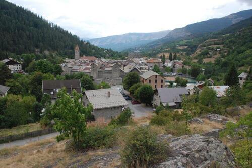 Colmars des Alpes depuis le fort de Savoie